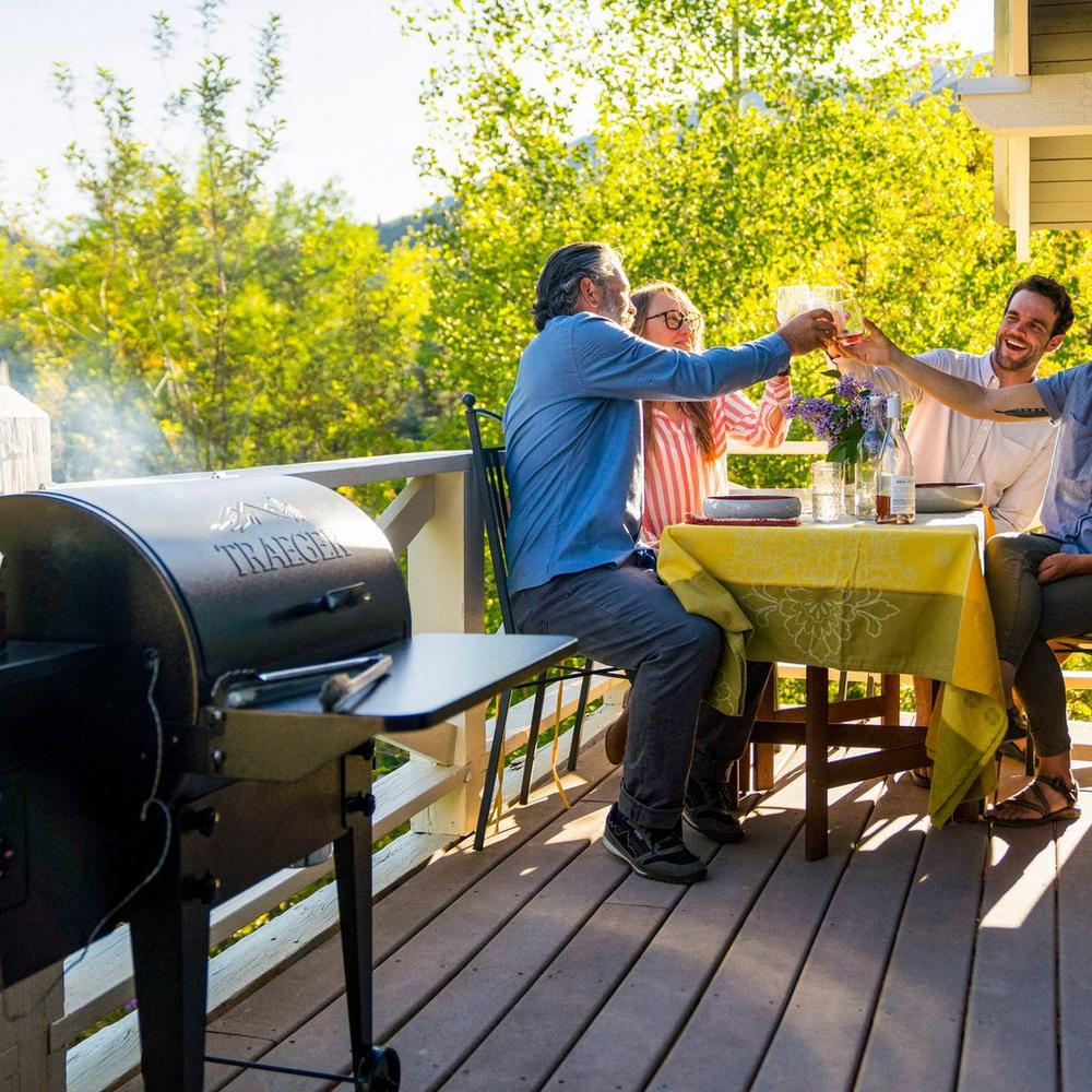 Tailgater Traeger grill being used at party in Portland