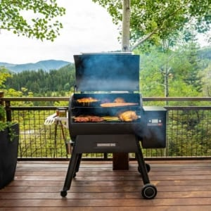 Traeger Ironwood 885 pellet grill available at Burns Feed Store