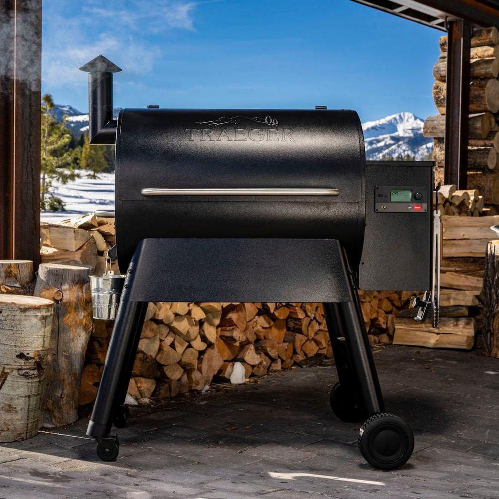 Traeger Pro 780 pellet grill grilling outside