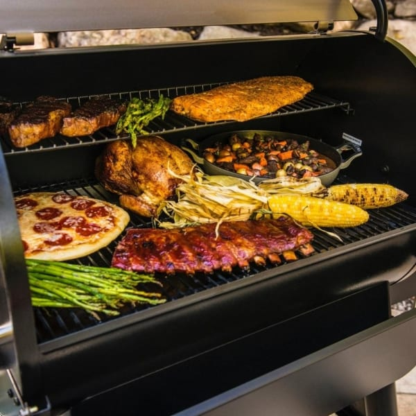 Traeger Pro 780 Bronze pellet grill grilling veggies meat and more