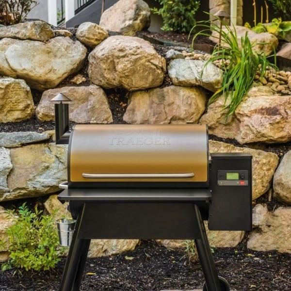Traeger Pro 780 Bronze pellet grill outdoors